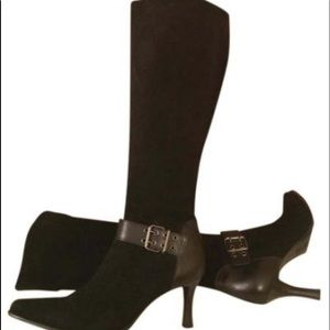 Franco Sarto brown. Suede knee-high boots size 6M